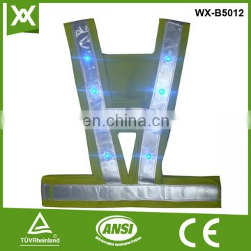 suppliers OEM 14/16 flashing high visibility reflective OEM LED reflective jacket