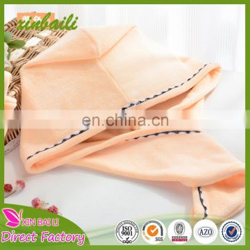 Thicken bamboo fiber hair drying cap soft and lovely hair drying towels super water absorption 26*68cm 100g