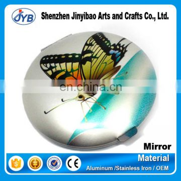 Aluminum Frame Material Pocket Mirror Style metal compact mirror wholesale