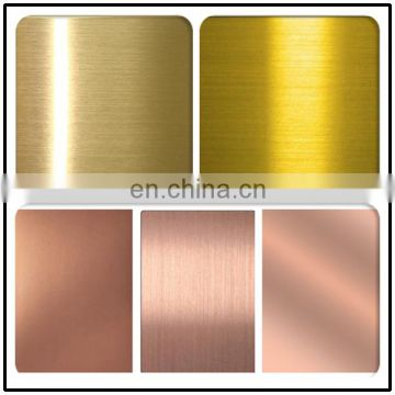 New product Hairline Finish Copper Color Stainless