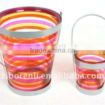 Reliable and Cheap hand painted glass candle holder set of 3