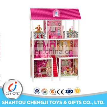 Hot sales girls play set plastic funny big doll house