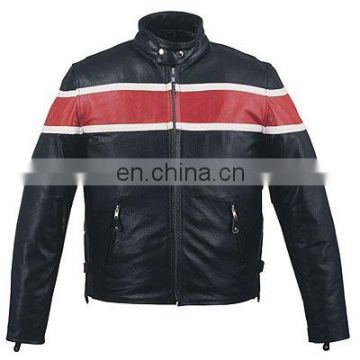 HMB-0476C LEATHER JACKETS MOTORBIKE COATS BLACK BIKER STYLE