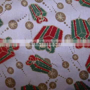 popular organza fabric polyester printing Christmas celebration decoration