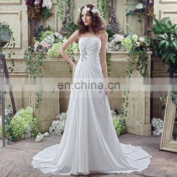 91d4b927ba Wholesale Strapless Lace-Up Beaded Chiffon Wedding Dresses SQS035 of  Wedding Dresses from China Suppliers - 158118530