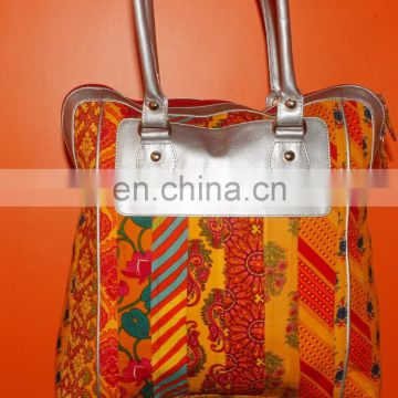 indian handmade red colour woman luxury bag