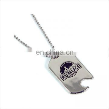high quality emboss logo dog tag/ metal dog tag customized