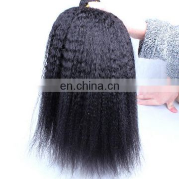 7A Good Quality Wholesale Brazilian 100% Virgin Afro Kinky Straight Hair Weave