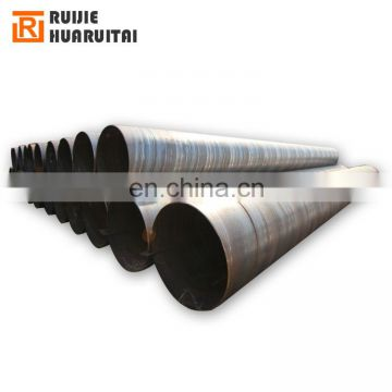 ASTM A252 SS400 diameter 500mm thickness 10.5mm SSAW Spiral Welded Steel Pipe for Pot Piling