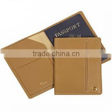 Wholesale fashion genuine leather passport cover passport holder