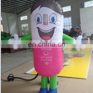 High quality inflatable moving cartoon costume with person inside, mobile  mascot