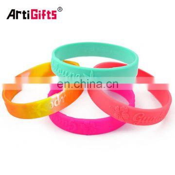 latest technology custom embossed silicone wrist bands