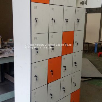 waterproof staff storage RFID hpl locker cabinet for sale