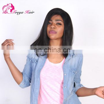 New Arrival Indian Remy 14 inch Short Cut Bob Wig lace front wig