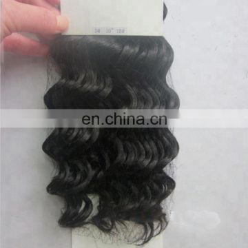 factory black chinese human hair extensions deep wave machine weft