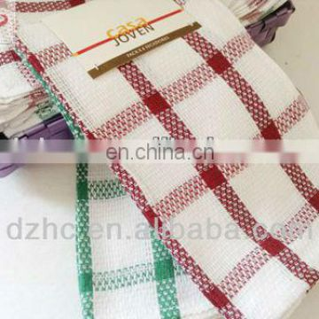 100% cotton plaid kitchen cleaning cloth made in China