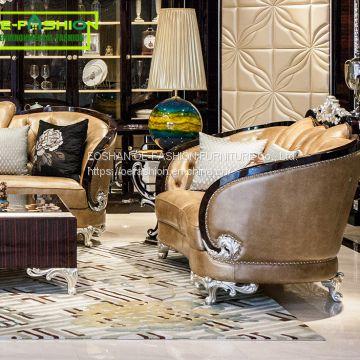 Excellent Oe Fashion Royal Furniture Design Living Room Funiture Sets Genuine Leather Sofa Set Interior Design Ideas Gentotryabchikinfo