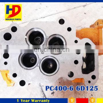 PC400-6 Cylinder Head Assy For 6D125 Diesel Engine Part