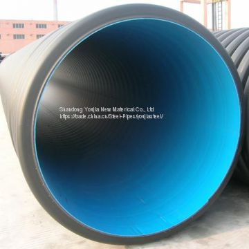 OD500mm SDR17.6 HDPE double wall corrugated pipe