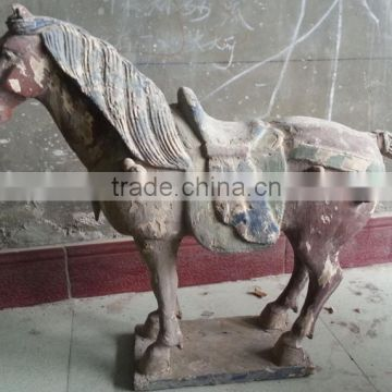 carved antique imitation wooden horse sculpture home hotel decoration