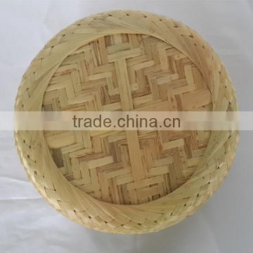 Chinese traditional bamboo weave funeral casket handmade design