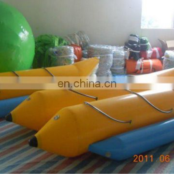 PVC inflatable banana boat/seesaw