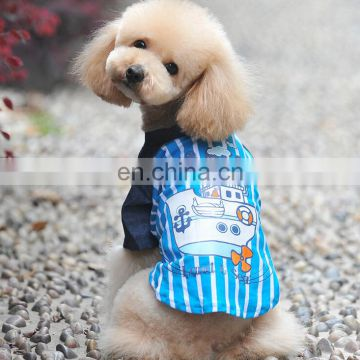2 Colors Summer Wear Blue Ocean Sailing Boat The Dog Vest Pet Clothing Vest