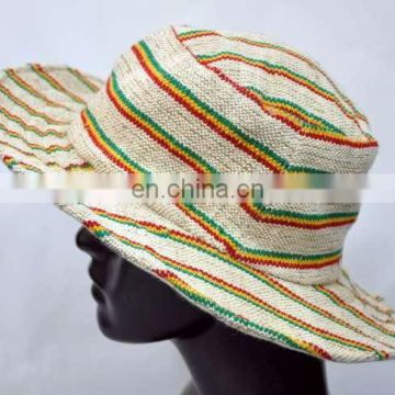 Rasta safari hat