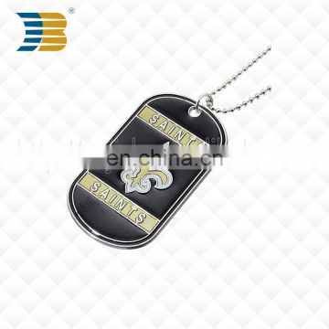 Chinese manufacturer design custom metal military dog tag