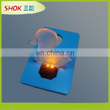 2016 hot selling different design logo available led business card light