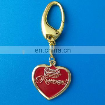 2017 customized metal heart shaped keychain engraved logo heart shaped zipper pull