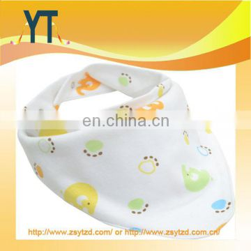 Double Layered Cotton Baby Bib with Nipple String, top design new christening organic baby bib wholesale fashion baby bandana