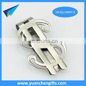 2017 high quality metal brass paper clip with enamel custom logo
