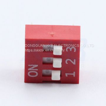 Environmentally DS-03 red and blue 2.54 pitch pin type DIP switch