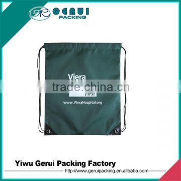 190T silkscreen printed polyester drawstring backpack