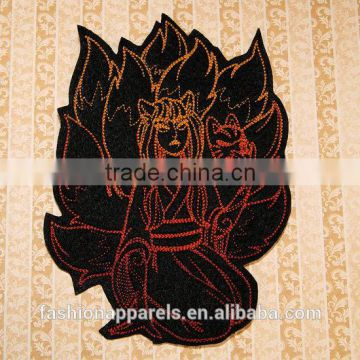 Custom high quality embroidered the Japanese anime patch for clothes embroidery patch made in china choose size/color