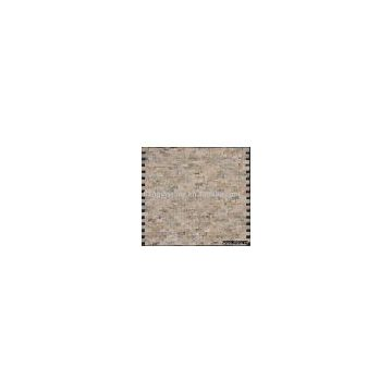 Travertine close joint brick mosaic