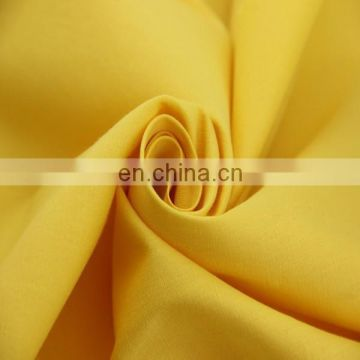 2016 plain dyed yellow 97 cotton spandex poplin fabric whoelsale