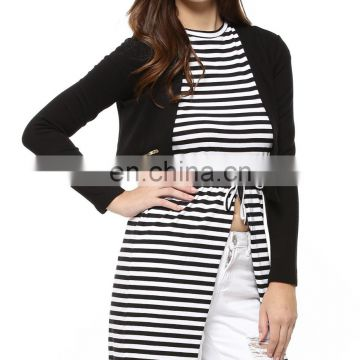 Black and white jacket for women