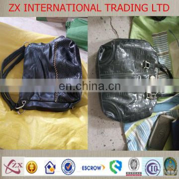 Strong quality wholesale used handbags leather second hand bags in bales used school bags