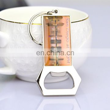 Wholesale cheap Custom beer bottle opener keychain