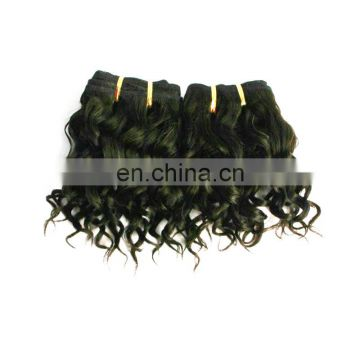 factory price natural soft 100% human hair short curly brazilian hair extensions