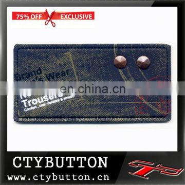 Leather Material jeans leather labels