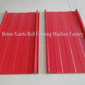 Standing seam roofing sheet forming machine