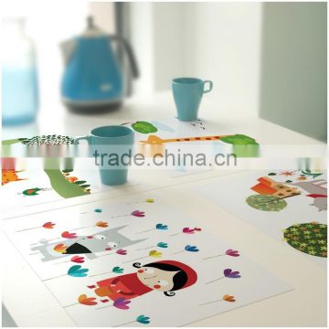 Factory price high quality colorful printing cartoon esd table mat