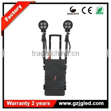guangzhou portable heavy duty rechargeable searchlight super bright CREE 80W LED rechargeable construction lighting stand