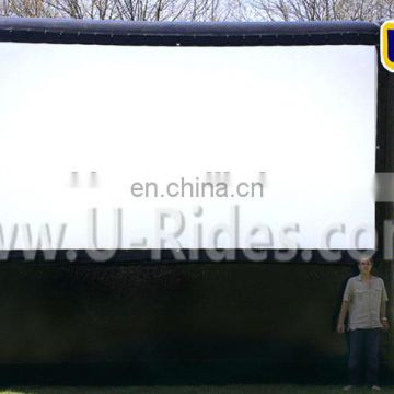 Hot Sell Black Color Inflatable Movie Screen With Bottom