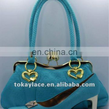 2012 classy ladies party shoes and bag set