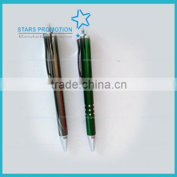 promotional metal click ball pen with costimzed logo