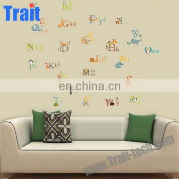 60x90cm PVC Removable Kids Learning Animal Alphabet kids Wall Stickers